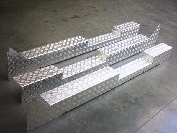 Knip en zetwerk van aluminium plaat